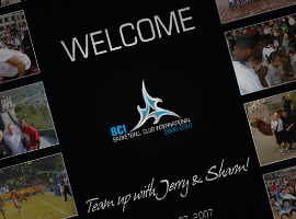 Basketball Club International: Team Up With Jerry & Sharm Poster.