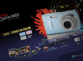 PENTAX Optio M5 Microsite.